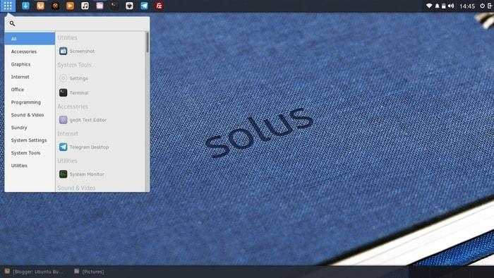 LInux Desktop Environments budgie