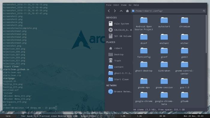 Linux Desktop Environments i3